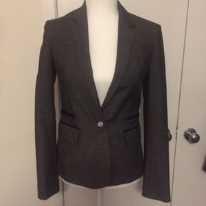 Express fitted gray blazer
